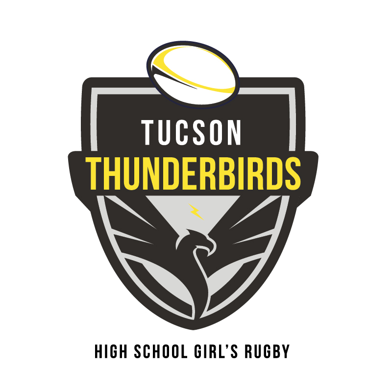 Thunderbird High School Girl's Rugby Logo Sept. 16, 2018