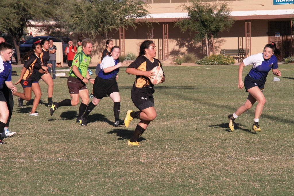 Tia Running for the Try Nov. 10, 2018